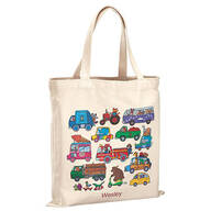Personalized Animals and Automobiles Children's Tote
