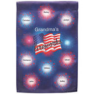 Personalized Patriotic Fireworks Garden Flag