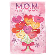 Personalized M.O.M. Maker of Memories Garden Flag
