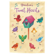 Personalized Tweet Hearts Garden Flag