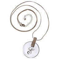 Personalized Large Disc Necklace