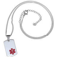 Personalized Medical ID Tag Necklace