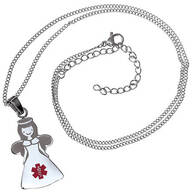 Personalized Angel Medical ID Necklace