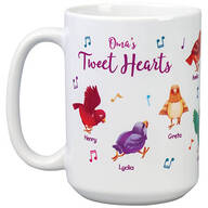 Personalized Tweet Hearts Mug