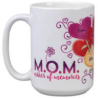 Personalized M.O.M. Heart Bouquet Mug