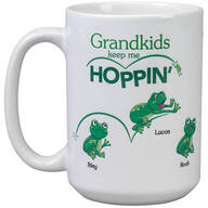 Personalized Grandkids Keep Me Hoppin' Mug