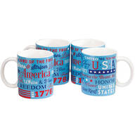 American Patriot Mugs by William Roberts, Set of 4