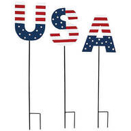 Metal USA Stakes by Holiday Peak™, Set of 3