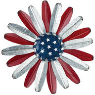 Metal Patriotic Flower Wall Hanging by Holiday Peak™