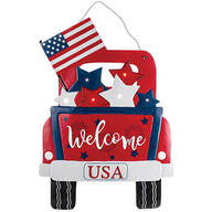 Patriotic Truck Lighted Door Hanger by Fox River™ Creations