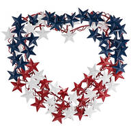 Metal Heart-Shaped Patriotic Wreath by Fox River™ Creations