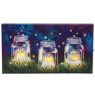 """Be The Light"" Lighted Canvas by Holiday Peak™"