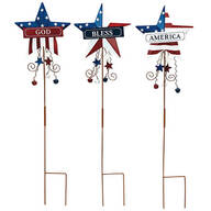God Bless America Metal Stakes by Holiday Peak™