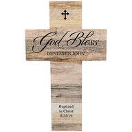 Personalized Rustic Style Cross, God Bless
