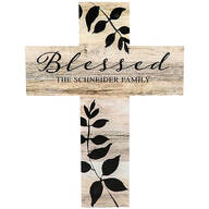 Personalized Rustic Style Cross, Blessed