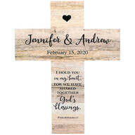 Personalized Rustic Style Cross, Couples