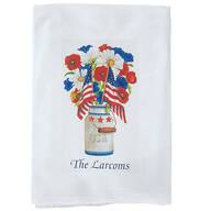 Personalized Patriotic Flour Sack Towel
