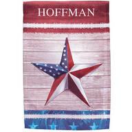 Personalized Barn Star Garden Flag