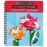 Brain Games® Sticker-by-Number Country Garden