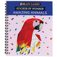 Brain Games® Sticker By Number Amazing Animals