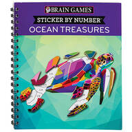 Brain Games® Sticker By Number Ocean Treasures