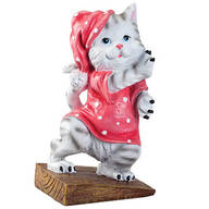 Whimsy Kitty Resin Doorstop