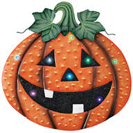 Color-Changing LED Jack-O-Lantern Hanger by Fox River Creations™