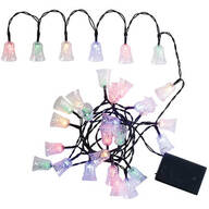 Battery-Operated Colorful Bell String Lights