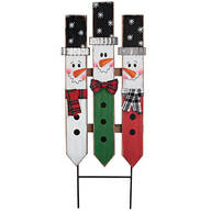 Snowman Fence Yard Stake by Fox River™ Creations