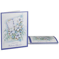 Personalized Bible and Flowers Note Card, Set of 20