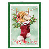 Personalized Cozy Greetings Christmas Cards set of 20