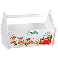 Personalized Children's Christmas Toy Caddy