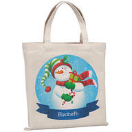 Personalized Childrens Snowman Tote