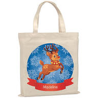 Personalized Childrens Reindeer Tote