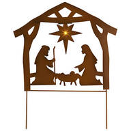 Metal Solar Nativity Scene Yard Stake by Fox River Creations™