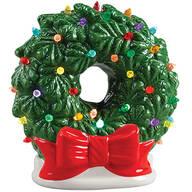 Vintage Ceramic Wreath Light by Holiday Peak™