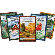 Country Style Coloring Books Set of 5