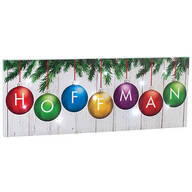 Personalized Christmas Ornament Canvas by Holiday Peak™
