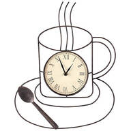 Coffee Kitchen Clock