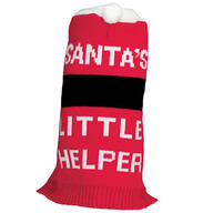 Santa's Little Helper Dog Sweater