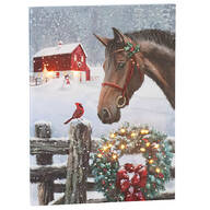 Christmas Horse Canvas by Holiday Peak™