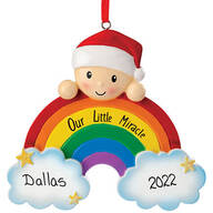Personalized Rainbow Baby Ornament