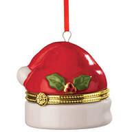 Santa Hat Trinket Box Ornament