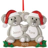 Personalized Koala Couple Ornament