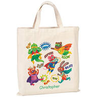 Personalized Children's Superheroes Tote