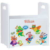 Personalized Superheroes Book Caddy