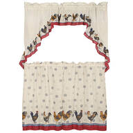 Rooster Tier Curtain 3 Piece Set