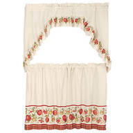 Apple Tier Curtain 3 Piece Set