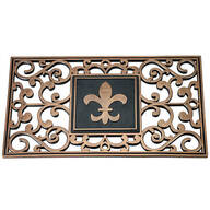 Hide-A-Key Doormat with Fleur-de-lis Insert