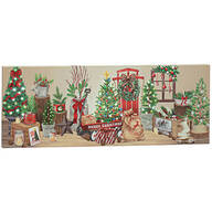 Vintage Christmas Decor Lighted Canvas by Holiday Peak™